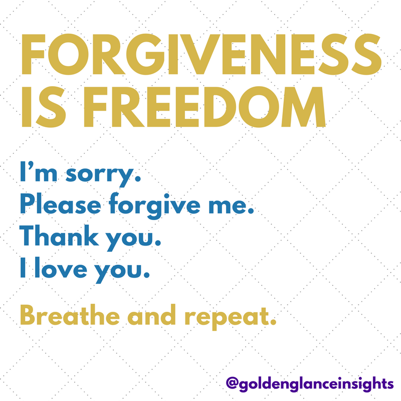 Forgiveness Is Easy.